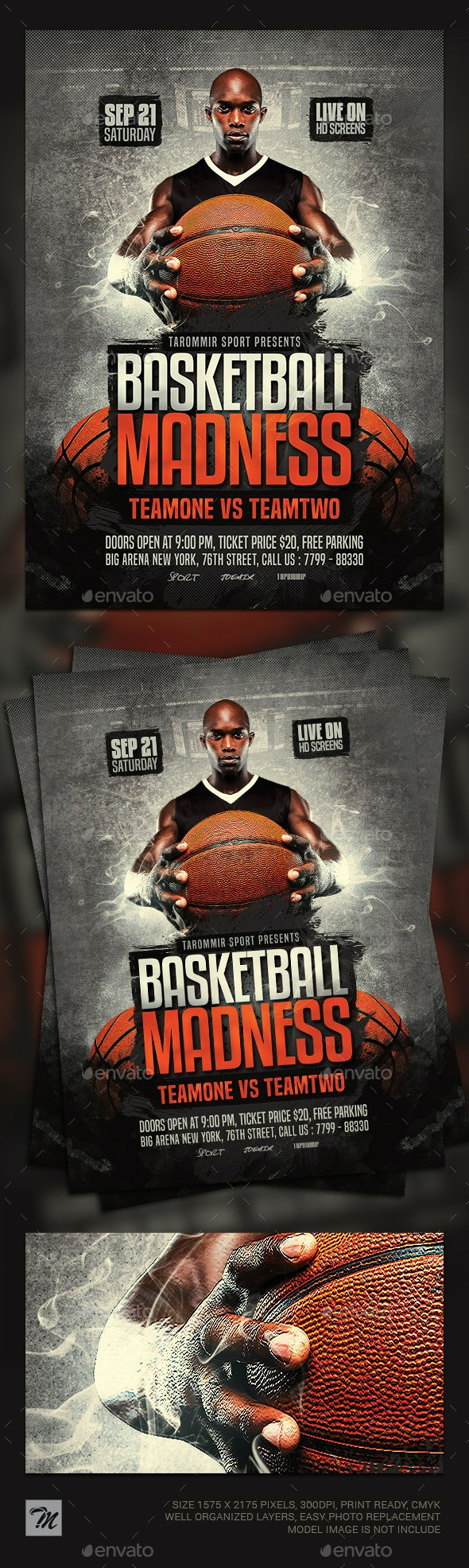 Basketball Madness Flyer - Sports Events