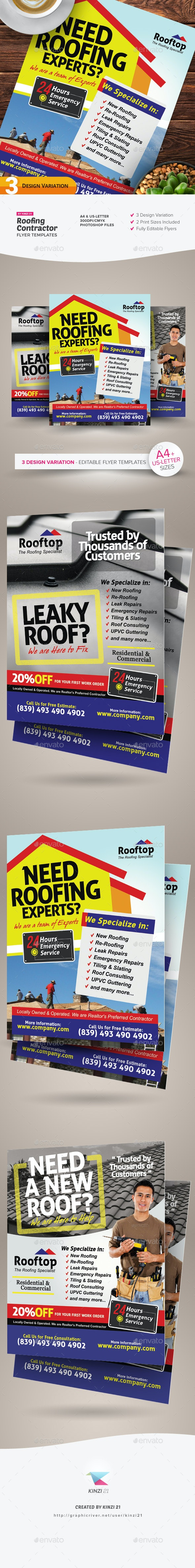 Roofing Contractor Flyer Templates - Corporate Flyers