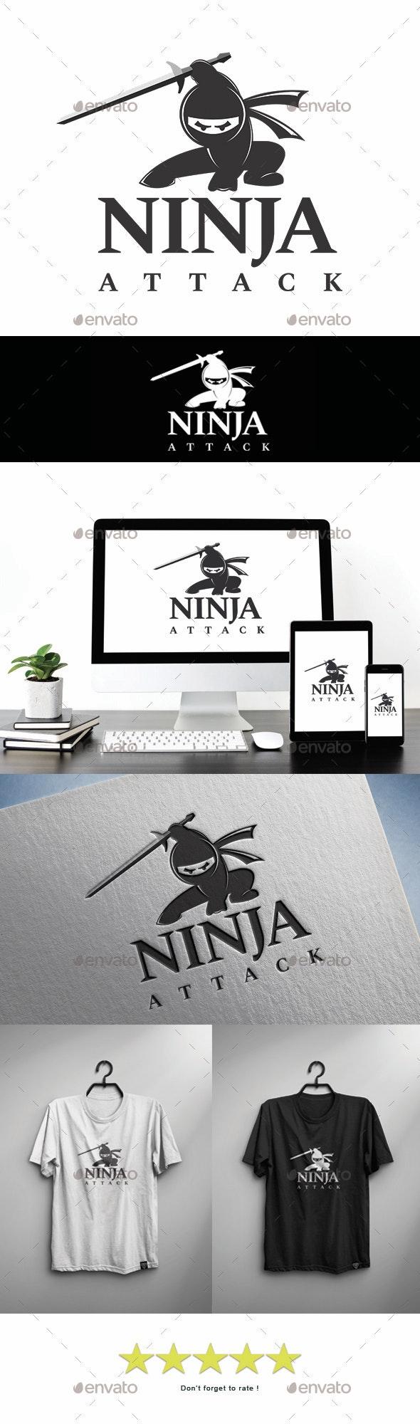 Ninja Attack - Ninja Logo - Logo Templates