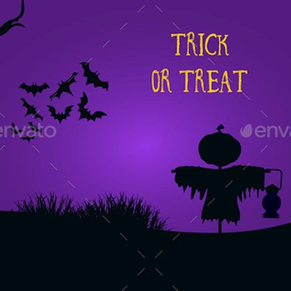 Trick or Treat Spooky Halloween Flyer