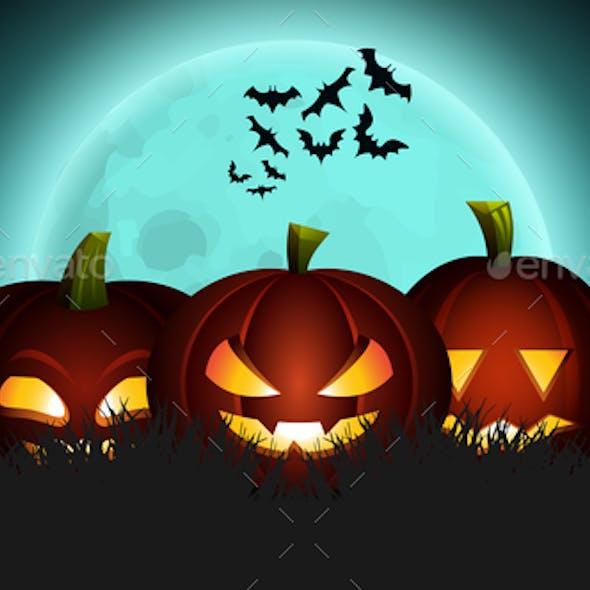 Halloween Pumpkin Lantern Illustration