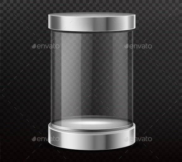 Sealed Glass Cylinder Capsule Realistic Vector - Man-made Objects Objects