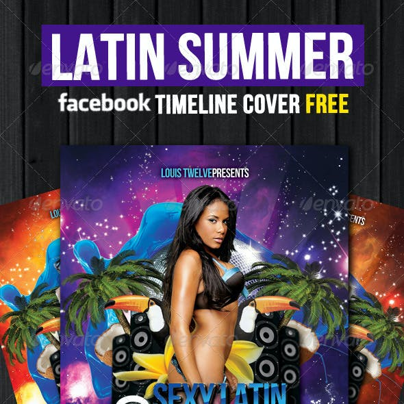 Latin Summer Party Flyer + Facebook Timeline