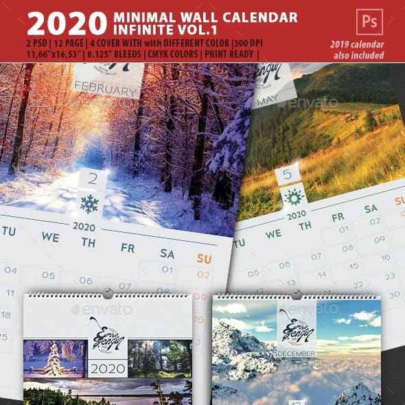 2020 Calendar Minimal Wall Infinite Vol.1