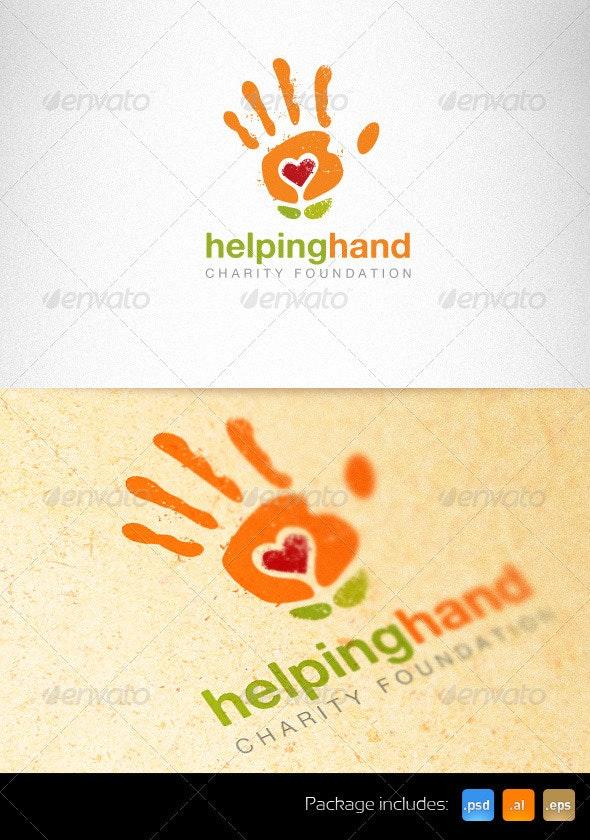 Helping Hand Charity Foundation Creative Logo - Nature Logo Templates