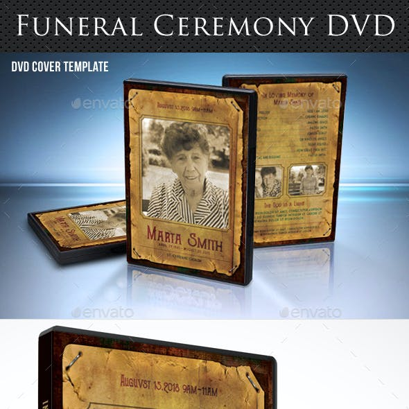 Funeral Ceremony DVD Cover Template V6