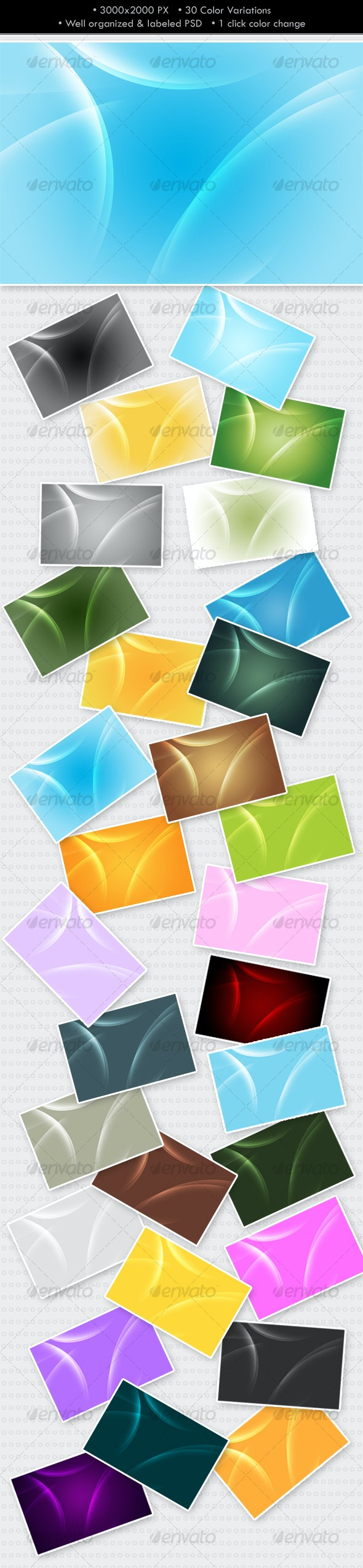 Glowing Abstract Background (30 colors) - Abstract Backgrounds