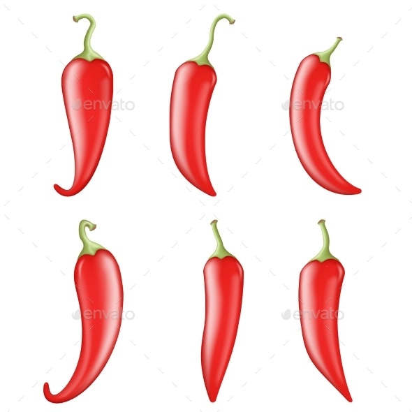 Cook Ingredient Raw Vegetable Red Hot Chili Pepper - Food Objects