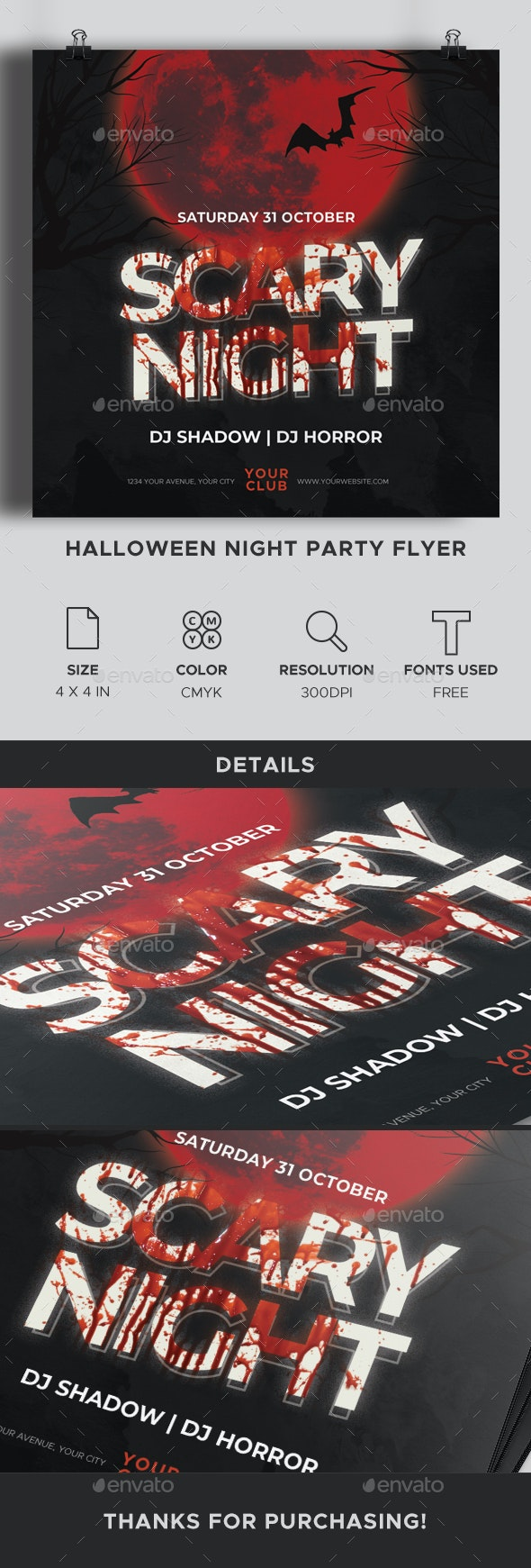 Halloween Night Party Flyer - Clubs & Parties Events