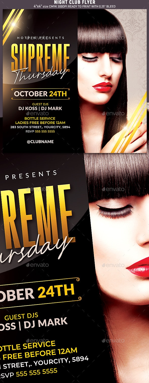 Night Club Party Flyer Template - Flyers Print Templates