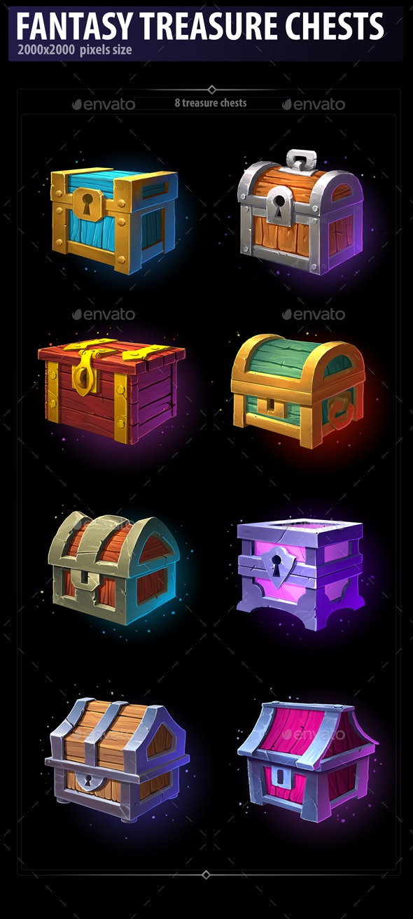 Fantasy Treasure Chests - Miscellaneous Game Assets
