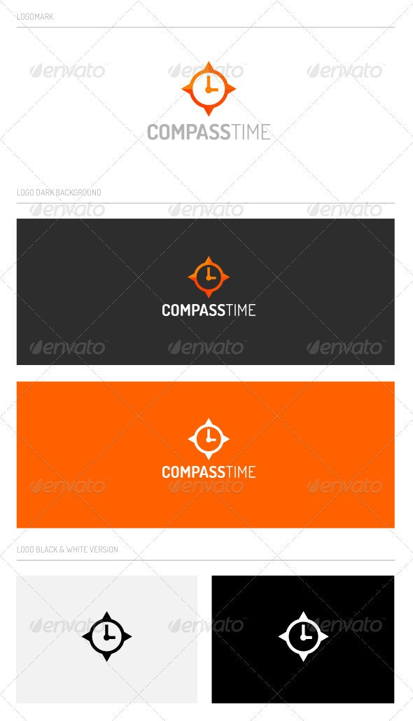 CompassTime - Abstract Logo Templates