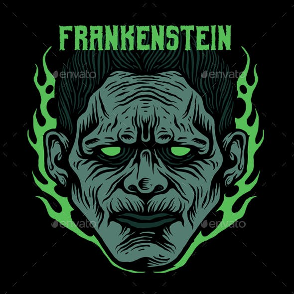 FRANKENSTEIN T-SHIRT DESIGN