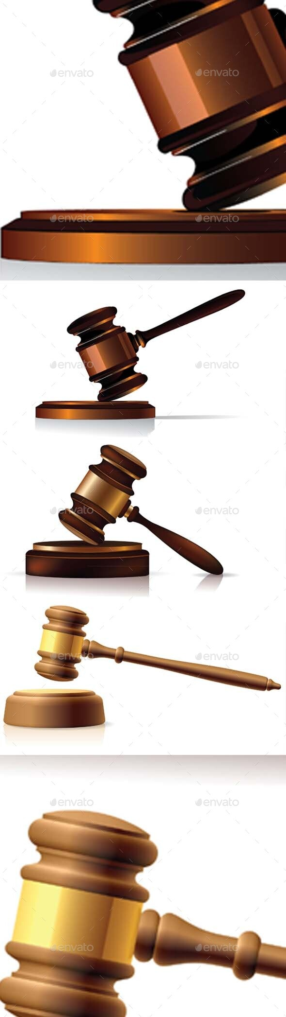 Gavel symbol - Man-made Objects Objects