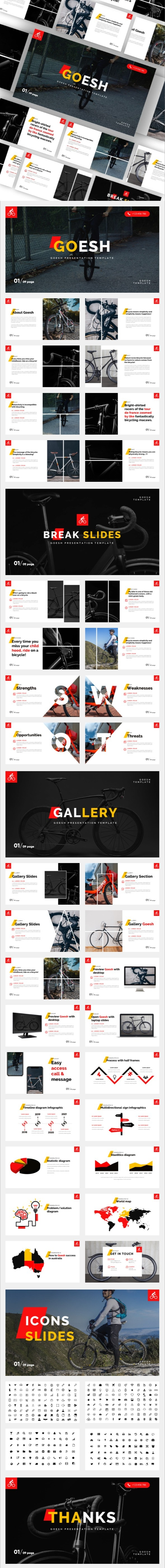 Goesh - Bicycle Sports Club Powerpoint Template - Miscellaneous PowerPoint Templates