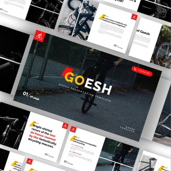 Goesh - Bicycle Sports Club Powerpoint Template