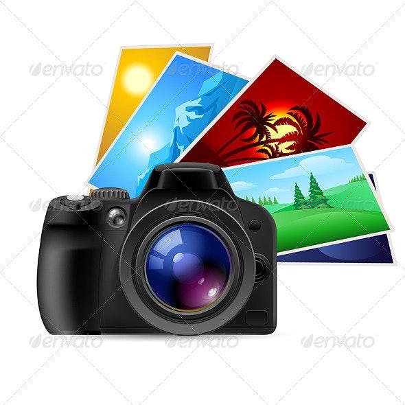 Camera and photos - Travel Conceptual