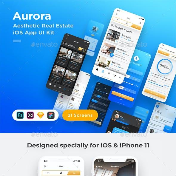 Aurora - Stunning Real Estate iOS App UI Kit