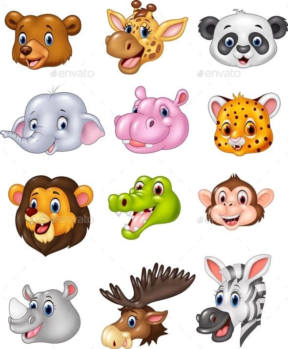 Animal Heads - Animals Characters