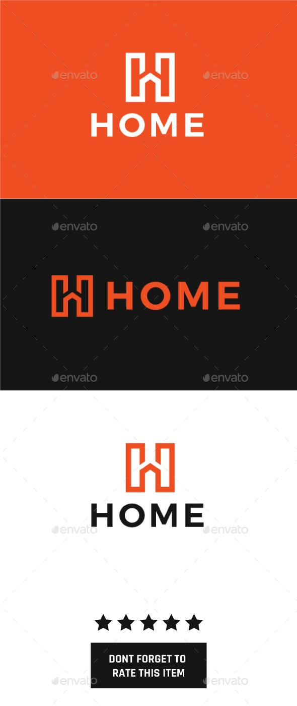 Home Logo - Letters Logo Templates