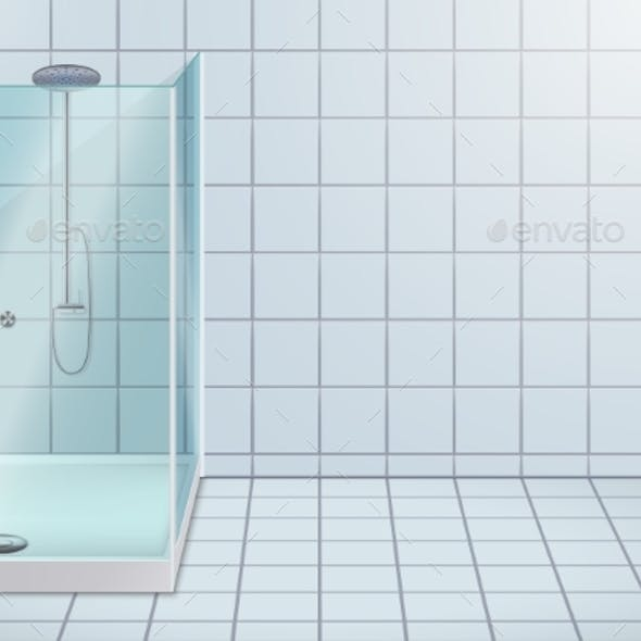Modern Corner Shower Stall