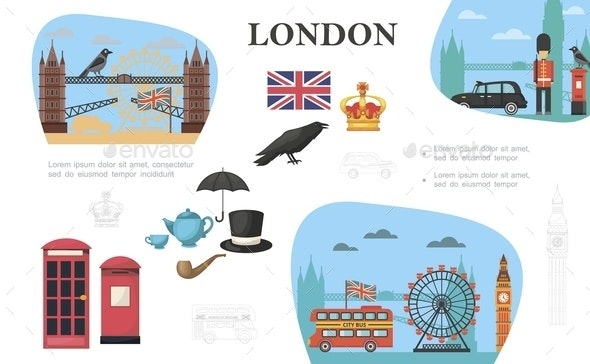 Flat London Concept - People Characters