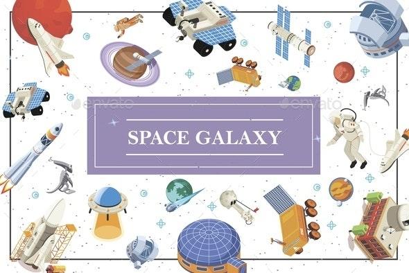 Isometric Space Elements Concept - Miscellaneous Vectors