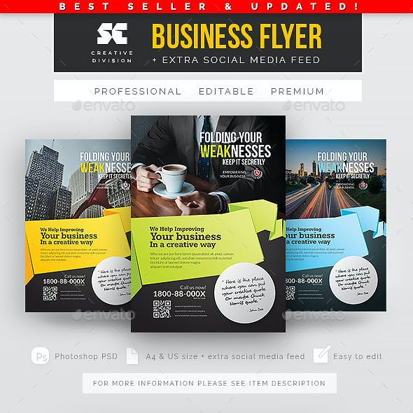 Clean & Modern Corporate Flyer/Magazine Ads