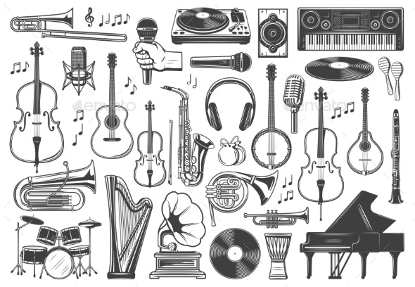 Musical Instruments Music Sound Equipment - Man-made Objects Objects