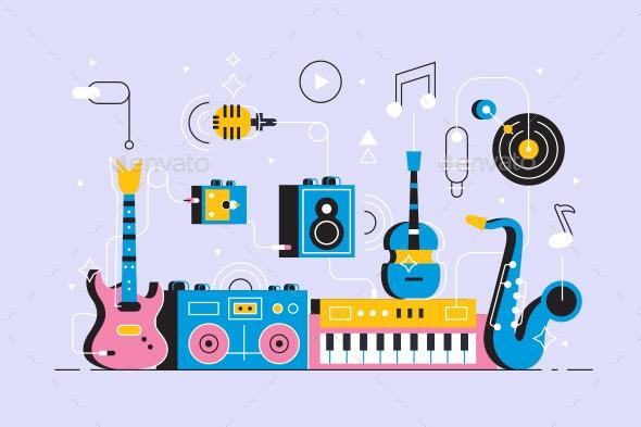 Musical Instruments Set - Backgrounds Decorative