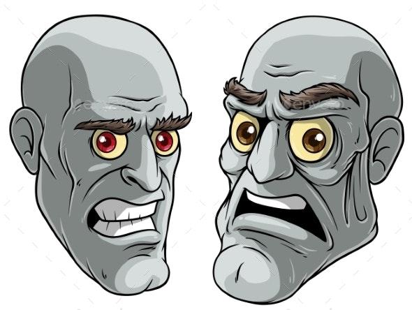 Cartoon Halloween Pale Zombie Monsters Characters - People Characters