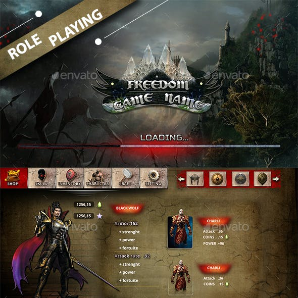 Role Playing Game UI