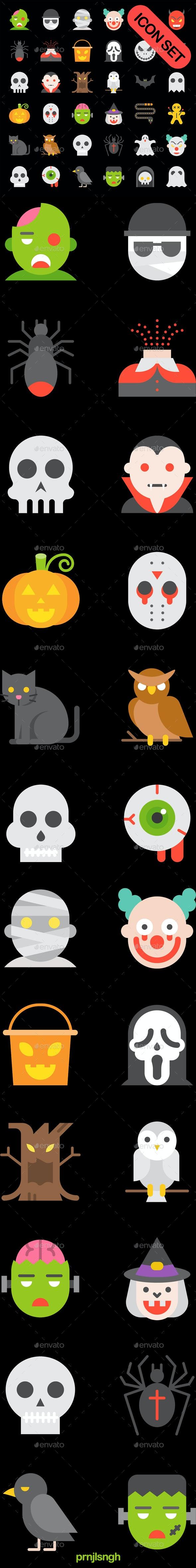 Halloween Icon Set - Halloween Seasons/Holidays