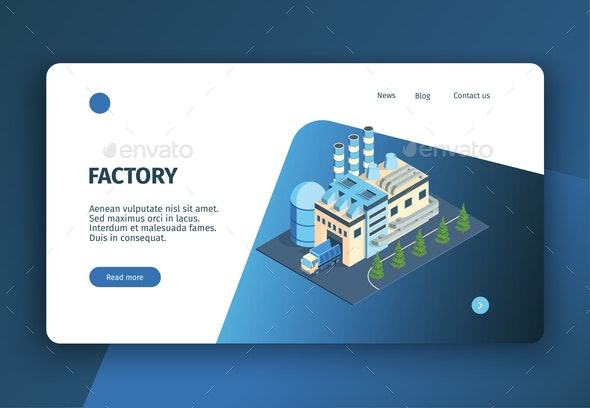 Modern Factory Landing Page - Computers Technology