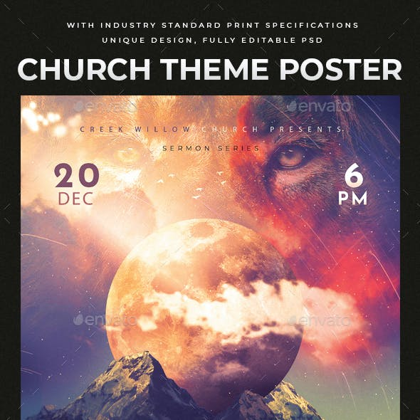 Church Themed Event Poster - Thy Will
