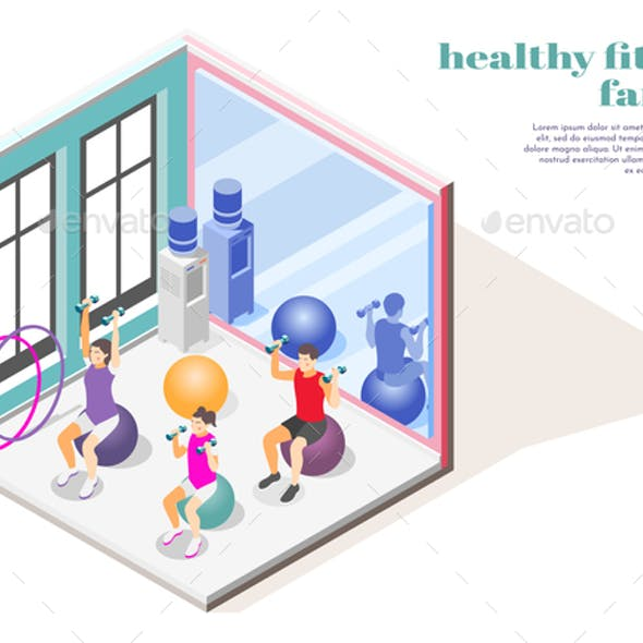 Family Fitness Isometric Composition