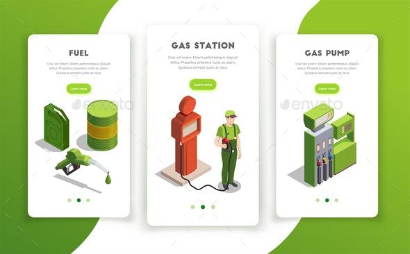 Gas Station Vertical Banners - Miscellaneous Vectors