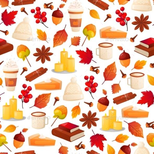 Autumn Season Seamless Pattern