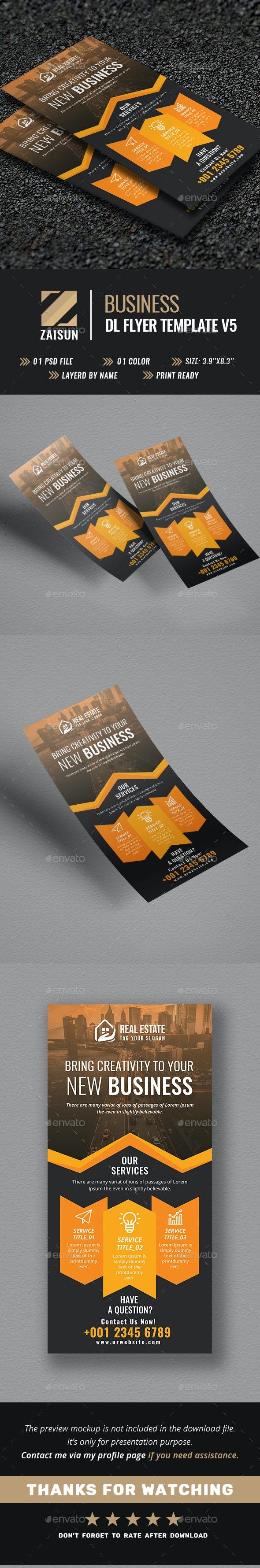 Business Dl Flyer V5 - Flyers Print Templates