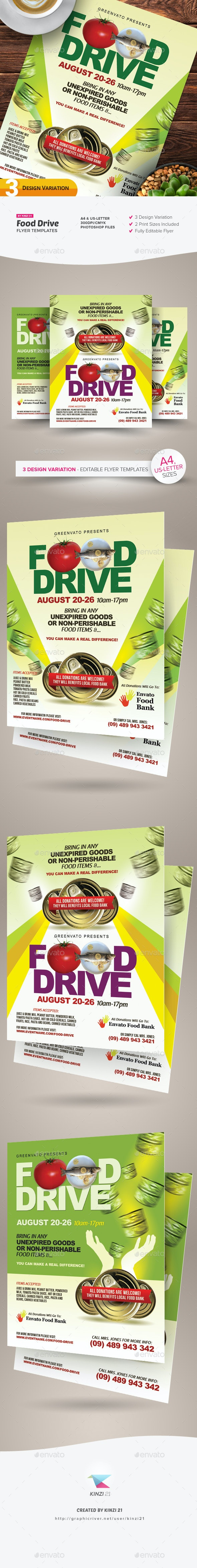 Food Drive Flyer Templates - Miscellaneous Events