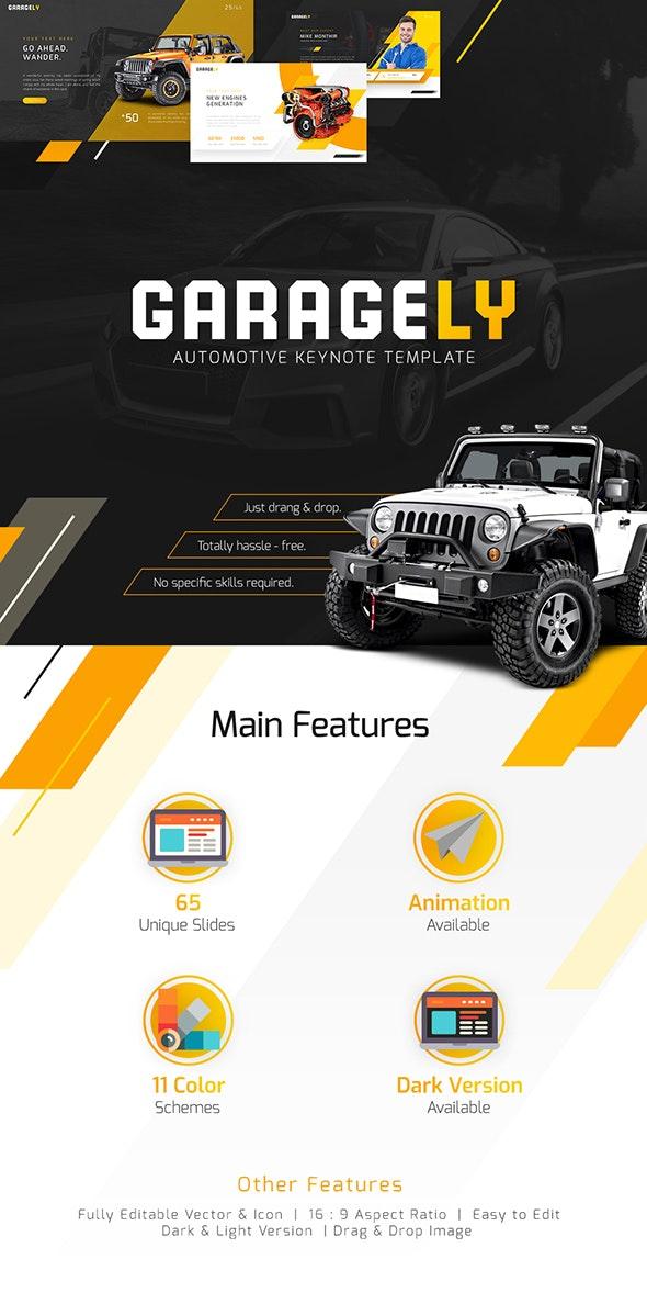 Garagely - Automotive  Keynote Template - Keynote Templates Presentation Templates