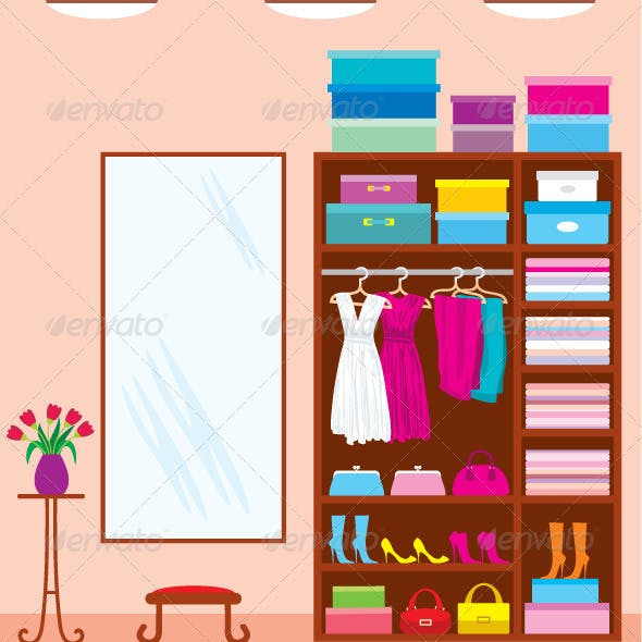 Wardrobe room. Furniture