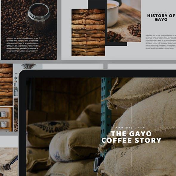 Gayo Coffee Keynote Template