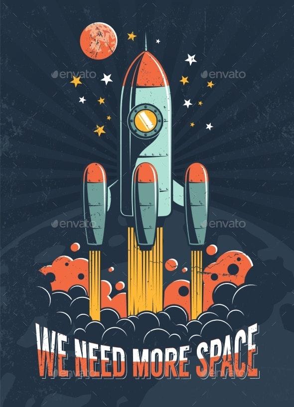 Rocket Start on the Planet Mars - Miscellaneous Vectors