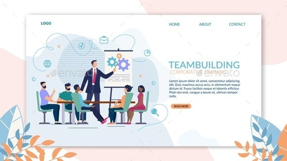 Bright Poster Teambuilding Corporate Training - Concepts Business