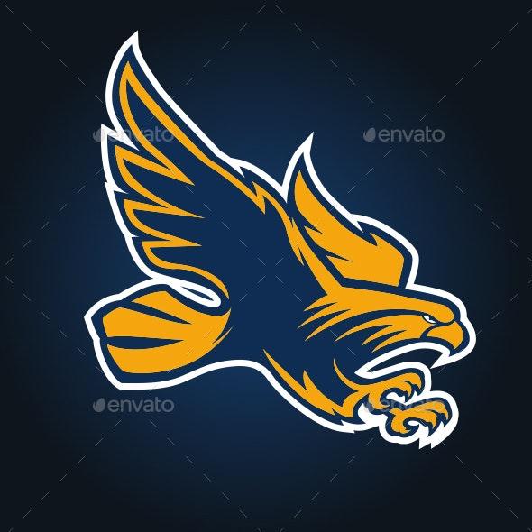 Eagle Mascot Logo Sport Vector - Animals Characters
