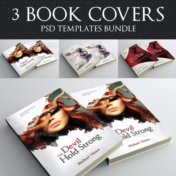 3 in 1 Book Cover Template Bundle 17