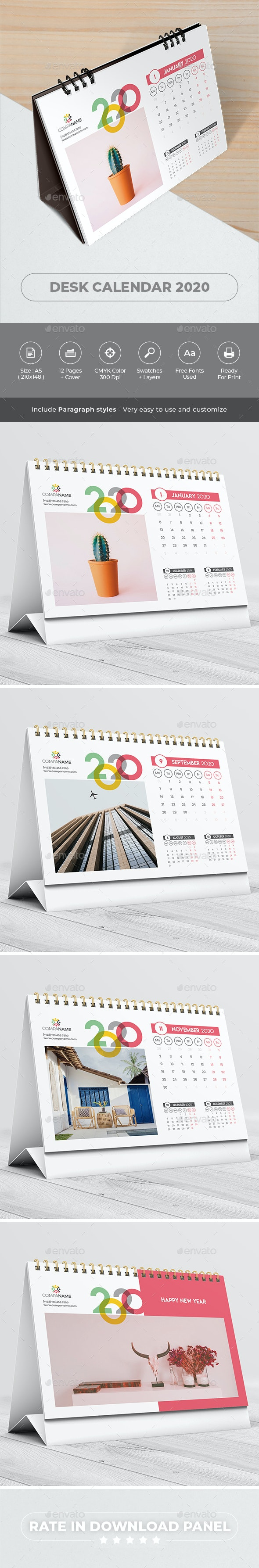 Creative Desk Calendar 2020 - Calendars Stationery