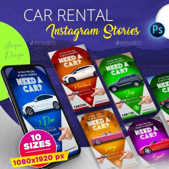Car Rental Instagram Stories