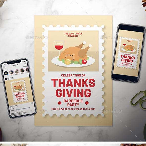 Thanksgiving Day Flyer Set